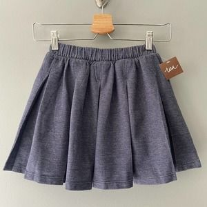 Tea Collection Denim Like Pleated Skirt Size 6